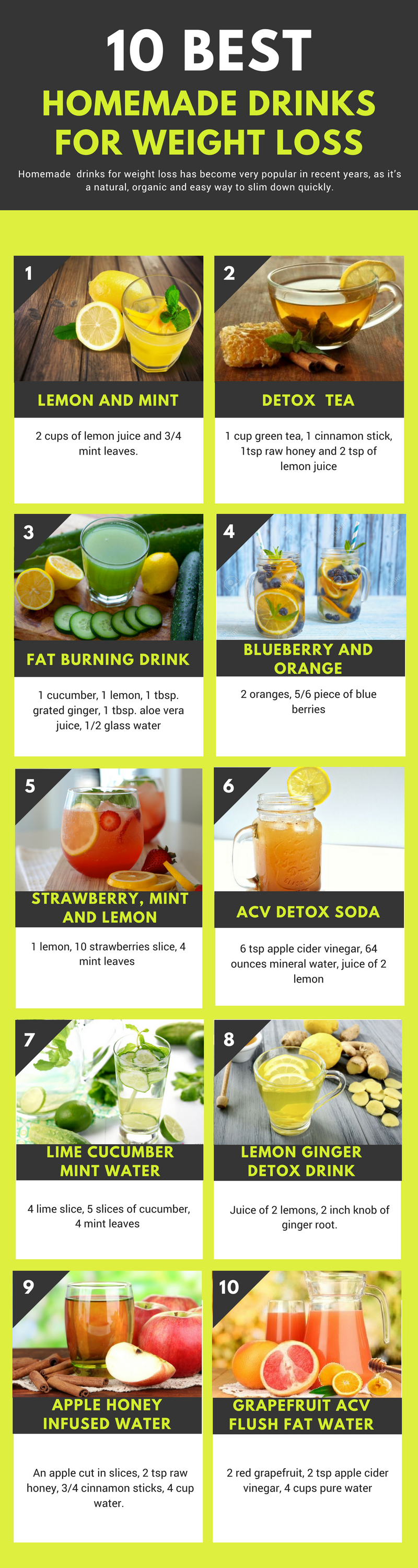 homemade drinks